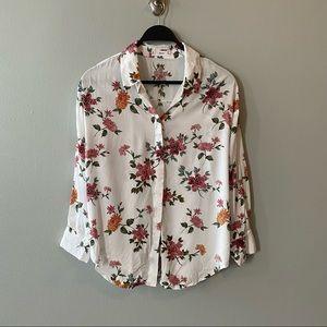 MANGO MNG Floral Button Down Shirt